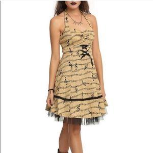 Hot Topic Music Note Swing Dress
